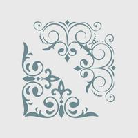 Vintage swirl design elements