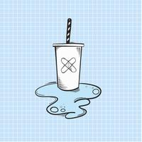 Vector of cold drink icon
