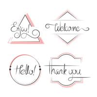 Set med typografi märken design vektor