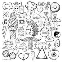 Vector set di icone femminili