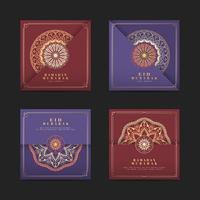 Collection de cartes Eid Mubarak