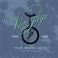Vintage merklogo ontwerp vector