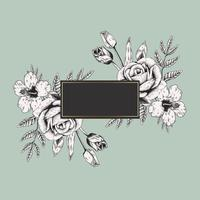 Bannière logo floral