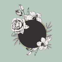 Rundes Blumenetikett