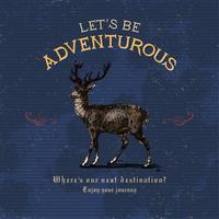 Let's be adventurous logo design vector