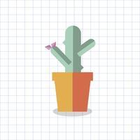 Illustrazione di un cactus colorato in una pentola