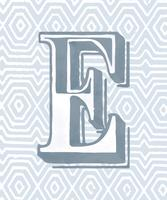 Letra maiúscula E estilo de tipografia vintage