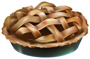 Abbildung der Torte lokalisiert auf weißem Hintergrund