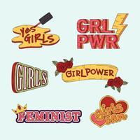 Collection de vecteurs de pouvoir de fille