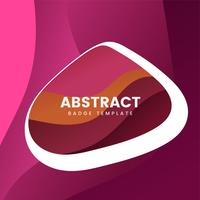 Colorful abstract badge logo design