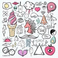 Vector set of feminine icons