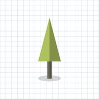 Illustration of a geometric shaped tree