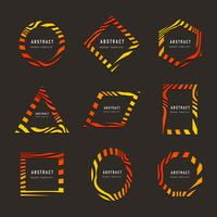 Collection of abstract badge vectors