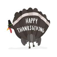 Happy Thanksgving day turkey illustration