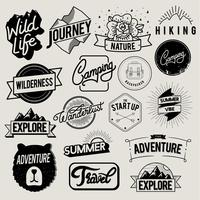 Travel and adventure badges