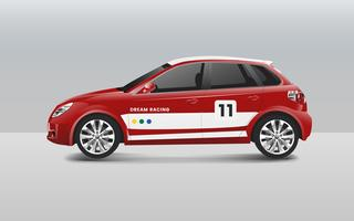 Hatchback race car design vector