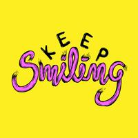 Illustration of keep smiling phrase vector