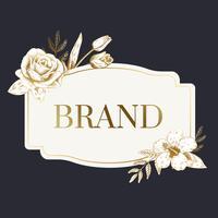 Étiquette de marque romantique
