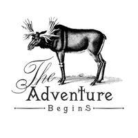 La aventura comienza vector logo diseño