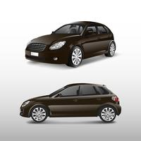 Hatchback car in brown vector