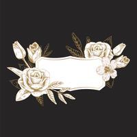 Distintivo floreale romantico