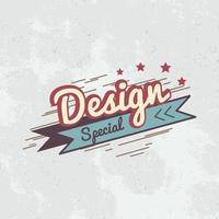 Special design badge logo vector