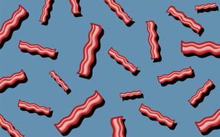 Illustration de papier peint motif de bacon