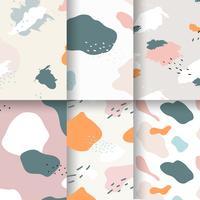 Pastel Memphis pattern design vector