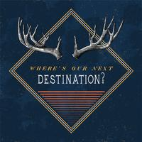 Destination travel logo design vektor