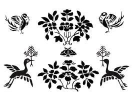 Vintage Illustration of Japanese pattern