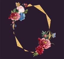 Blumenrahmenkartendesignillustration