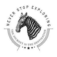 Nunca dejar de explorar vector de diseño de logotipo