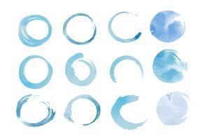 Blaues Aquarell gesetzt