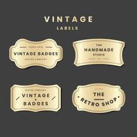 Vintage goldenes Logo gesetzt