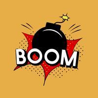 Vector explosión boom