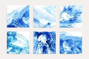 Abstract indigo paintings