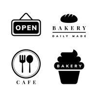 Conjunto de vetores de ícone de loja de café