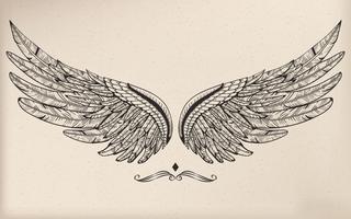 Vintage Vektor Flügel