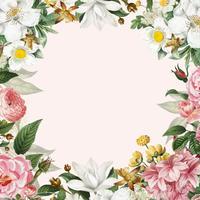 Pink floral frame