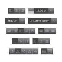 Vector set of website icons