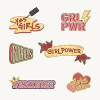 Colección de vectores de poder de niña