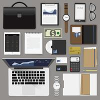 Illustration of business icons set