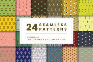 Set di 24 modelli vintage ispirati a The Grammar of Ornament