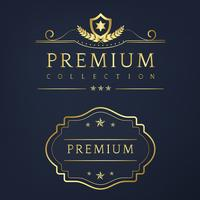 Premium collectie badge ontwerp vector