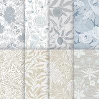 Floral pattern wallpaper