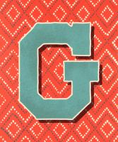 Capital letter G vintage typography style