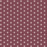 Seamless Japanese pattern with hemp leaf motif vector
