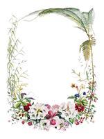 Página de título de Ilustraciones de plantas del Himalaya (1855) por WH (Walter Hood) Fitch (1817-1892). Mejorado digitalmente por rawpixel.