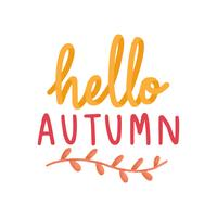 Hallo freundliche Herbstillustration des Herbstes