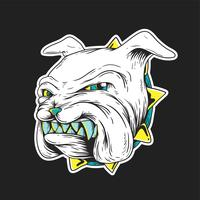 Growling bulldog vector